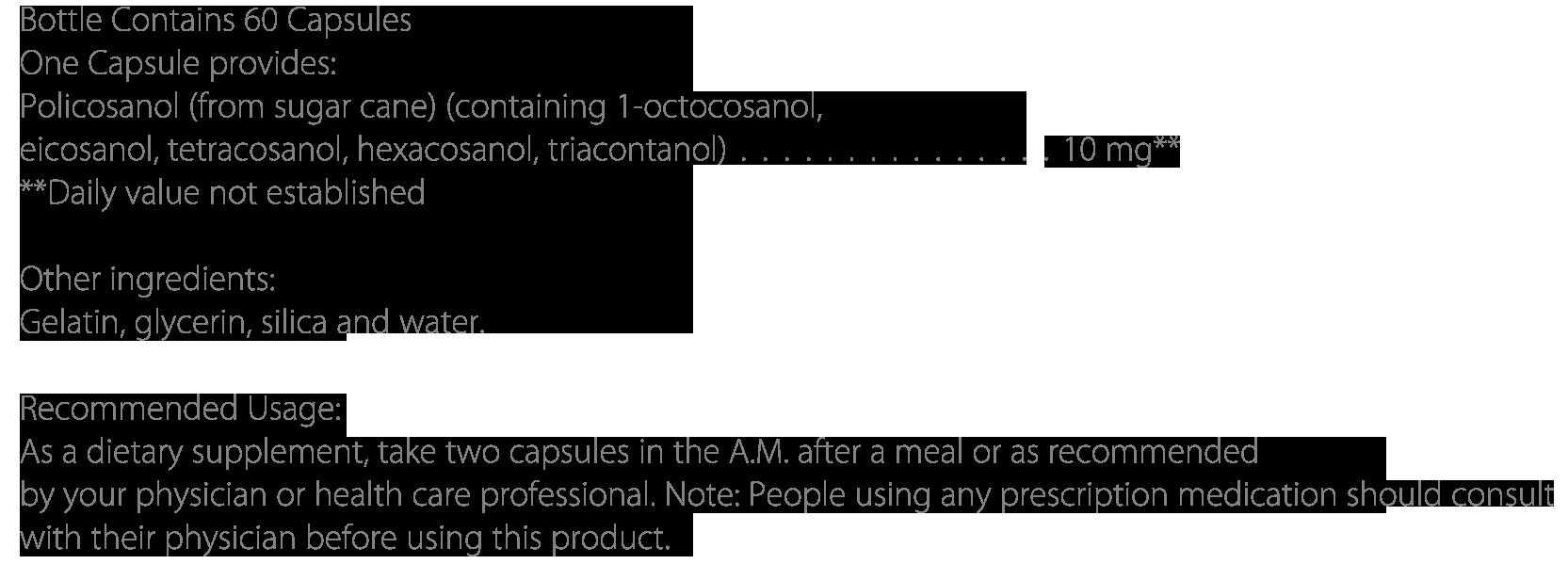 Policosanol